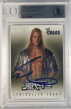 CHRIS JERICHO Fleer 2004 WWE CONTROLLED CHAOS  #8CC Auto On Card Rare!!!