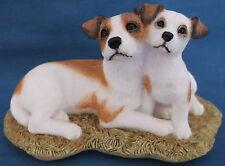 SHERRATT & SIMPSON JACK RUSSELL DOG & PUP FIGURINE