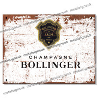 Metal Signs - BOLLINGER CHAMPAGNE Retro Wall Man Cave Vintage Kitchen Tin Sign