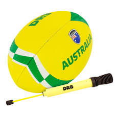 DRB Rugby Ball with Pump | Size Nº5 | Standard Adhesive Grip with Country Flags