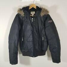 Vintage Polo Jeans Co By Ralph Lauren Down Puffer Women's Jacket Black Sz M EUC