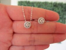 ".60 CTW Diamond Necklace&Ring Set 18k White Gold S514 sep ""SP"""