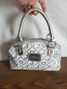 Justice Girls Silver Glitter Bag