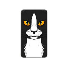 Black White Cat Face - Pet Kitty - Metal Lapel Hat Pin Tie Tack Pinback