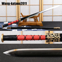 43'' Top Grade Chinese Han Dynasty Jian Ebony Damascus Folded Steel Sharp Sword