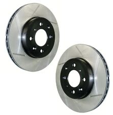 Pair Set of 2 Front Stoptech Sport Slot Disc Brake Rotors for GS300 IS300 SC430