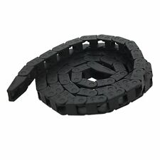 CNC Machine Tool 7 x 7.3mm Plastic Towline Cable Carrier Drag Chain Nested Black