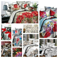 4 Piece Duvet Cover Complete Bedding Set Pillow Cases Single Double King SKing