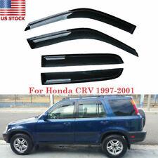 For Honda Crv Cr-V 97-01 Side Window Visor Vent Sun Shade Rain Guard Smoke (Fits: Honda)