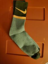 Nike Socks large crew gray and Orange