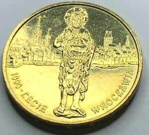 Poland 2000 WROCLAW  2 Zlote/ Nordic-gold coin UNC !!NO RESERVE!! !!(R2C1)