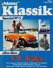 Motor KLASSIK SPEZIAL Nr. 5 - 1991 - Test VW Käfer VOLKSWAGEN + Käfer Cabrio