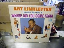 ART LINKLETTER Where Did You Come From LP EX 1963 20th Century Fox Records Mono