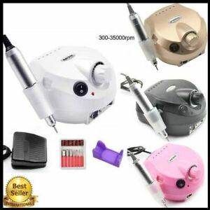 Professional Nail File Drill Kit Electric Manicure Pedicure Acrylic Machine