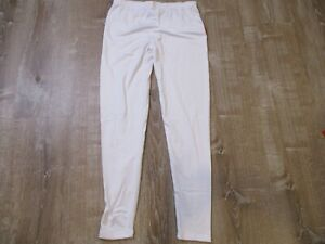 WuhouPro Womens Ultra Soft  Fleece Thermal Underwear Long Johns White L Pant EUC