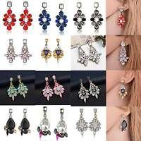 1Pair Women Rhinestone Crystal Resin Ear Stud Eardrop Earring Fashion Jewelry