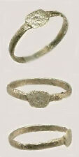 AD300 Ancient Engrave Silver Roman Provincial Macedonia Macedon Greece Ring Sz8¾
