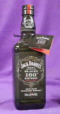 JACK DANIEL'S 160th BIRTHDAY BOTTLE & HANG TAG , Very Rare Collectible