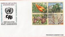 BL66 Envelope FDC United Nations u.N Endangered Species IN Danger ES3