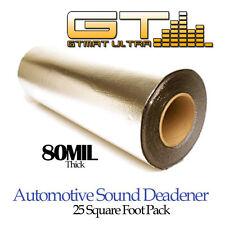 "25sqft Car Sound Deadener Gtmat 80mil Noise Heat Insulation Deadening Roll 18"""