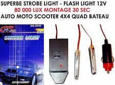 STROBE LIGHT FLASH BOITIER 80000 LUX! SPECIAL MOTO SCOOTER HARLEY BMW BUELL KTM
