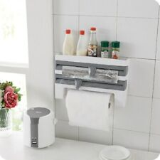 Plastic Hanger Cling Film Storage Cutter Wall Hanging Paper Towel Holder Kitchen