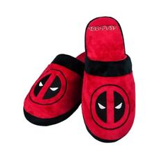 Oficial Marvel Deadpool Adulto mula Slip-On Zapatillas-Uk 8-10 Un tamaño
