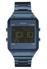 GUESS U0596G4 Men's Blue Digital Chronograph Stainless Steel Watch NEW**