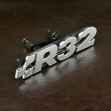 R32 Emblem Grill Grille ABS Chrome Bonnet For MK Golf R32 Car Front Badge