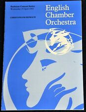 More details for 1992 english chamber orchestra programme barbican london