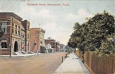 1909 Stores Elizabeth St. Brownsville TX post card