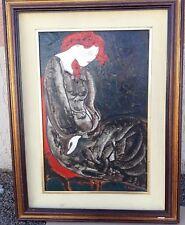 Linda Le Kinff  huile sur panneau  Original Cubisme Femme Portrait