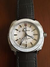 JeanRichard Terrascope Mens Automatic GMT Watch with White Dial