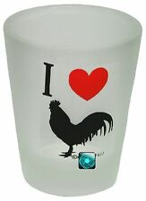 I LOVE COCK (rooster) Shot Glass Brand NEW