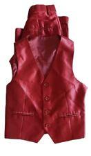 Kids World Of USA Shinny Red 2 Piece Suit Vest & Pants Size 8 Boys