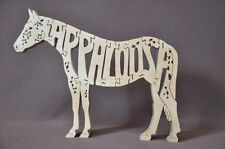 Appaloosa Horse Wooden Amish Made Scroll Saw Puzzle Tack Room Toy USA