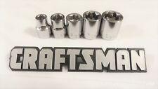 """Craftsman 5pc 3/8"""" 8 pt Star Sockets Set New Tools Bit Point Drive Inch STD"""