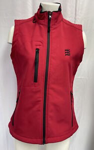 Ladies Size 14 Golf Red Softshell Rainproof Red Full Zip Gilet Equestrian Horse