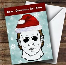 Scary Horror Michael Myers Halloween Personalised Christmas Card