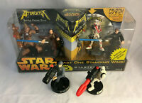 Star Wars Attacktix Battle Figure Game Starter Set w/ 6 Figures & Box - Clone