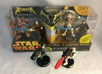 Star Wars Attacktix Battle Figure Game Starter Set w/ 6 Figures & Box - Clone