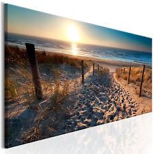 DEKO BILDER Meer Strand LEINWAND Horizont Wandbild Landschaft Wohnzimmer 120x40