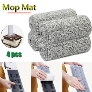 4pcs Spray Mop Replacement Pads Head Microfiber Refill Wet Dry Cleaning Washable