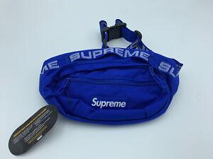 Supreme SS18 Blue/Royal Waist/Shoulder Bag Fanny Pack Men Waist 100% AUTHENTIC