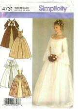 Simplicity Sewing Pattern Womens DRESS Wedding Historic Gown 4731 Sz 4-6-8-10 UC