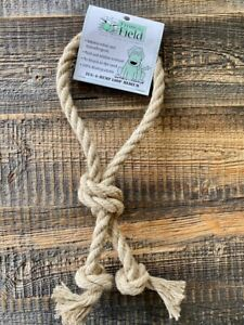 "Hemp Natural Dog Rope Tug and Fetch Toy Loop 14"" (Medium) From The Field"
