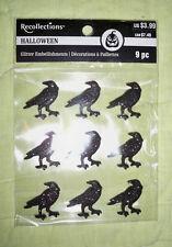 Recollections halloween Glitter Embellishments*RAVENS* Sheet of 9