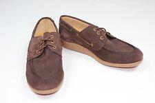 Sebago Men's Jobson Docksides brown Suede Leather shoes, Size UK 10, RRP £160