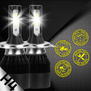 2PCS 488W H4 9003 LED Light Headlight Hi/Lo CREE 6000K White Car Bulbs HB2