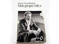 Serge Gainsbourg MON PROPRE RÔLE 2 Collection Folio Livre de poche 1992